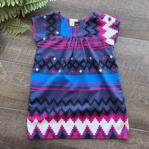 Tea Aztec Print Dress